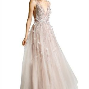 Basix tulle embellished gown